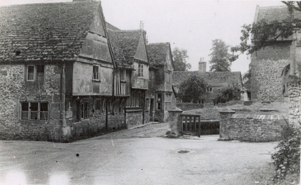 The entrance to the Lacock pottery in Church Street.