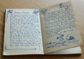 One of Roger's diaries