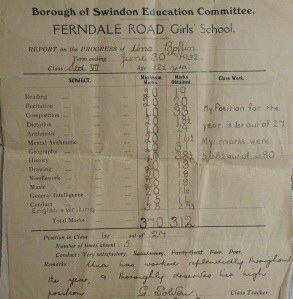 Associated archival material acquired with the deposit... Top of the class in 1932 with high marks in music