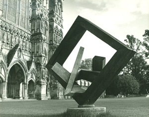A Roger Leigh sculpture outside Salisbury Cathedral
