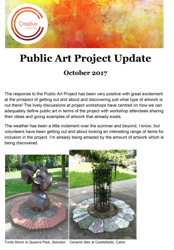Public Art Project Update - Oct 2017-1