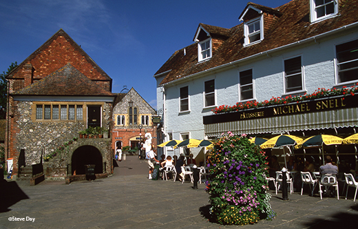 St. Thomas' Square with the Michael Snell Tea Rooms, Salisbury